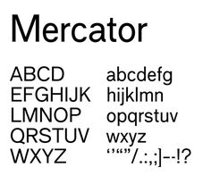Mercator (The Dutch Helvetica) _ Revival of Dick Dooijes's 1958 typeface by Daniella Spinat