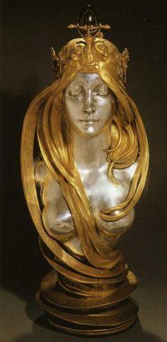 Nature by  Alphonse Mucha  Start Date: 1899  Completion Date:1900  Style: Art Nouveau (Modern)  Genre: sculpture  Gallery: Mucha Museum