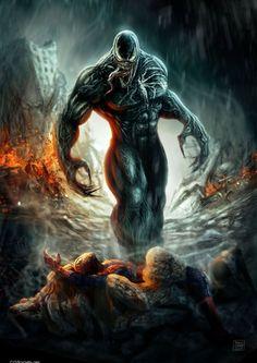 Venom vs. Spider-Man - Patricio Clarey