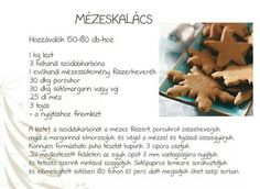 Mézeskalács recept Xmas, Christmas, Gingerbread Cookies, Dog Food Recipes, Halloween, Yule, Yule, Gingerbread Cupcakes, Ginger Cookies