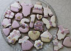 Girl birthday cookie set