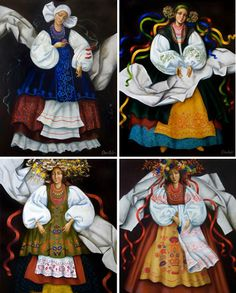 A different, folky take on the 4 seasons by Olha Kovtun.