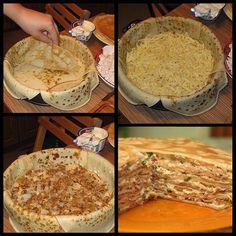 БЛИННЫЙ ПИРОГ С КУРИЦЕЙ И ГРИБАМИ В нашей семье любят блинный пирог с курицей и грибами, но этим начинки не ограничиваются, это может быть и просто грибная начинка или сладкая