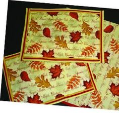 Fall Foliage Placemats
