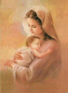 It is Mary Mother of Jesus who taught us How to pray the Rosary. It was her way of bringing us closer to Jesus by meditating on the life of Jesus. Blessed Mother Mary, Divine Mother, Blessed Virgin Mary, Religious Pictures, Religious Icons, Religious Art, Immaculée Conception, Images Of Mary, Bing Images