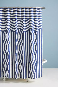 Hotel Magique for Anthropologie Riviera Shower Curtain | Anthropologie Hotel Shower Curtain, Bathroom Shower Curtains, Bathroom Furniture, Home Furniture, Forever 21 Gift Card, Urban Outfitters Gift Card, Organic Duvet Covers, Bathroom Essentials