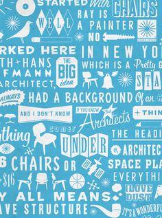 Eames Screen print