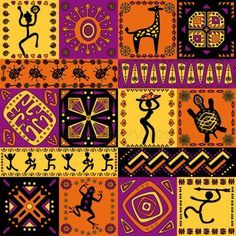 Facts about African Patterns present the ideas about the pattern that you can find in African art. You can enjoy a unique pattern on the African mask design. African Rugs, African Masks, African Fabric, Cultural Patterns, Ethnic Patterns, African Patterns, Decoupage, African Art Paintings, African Artwork