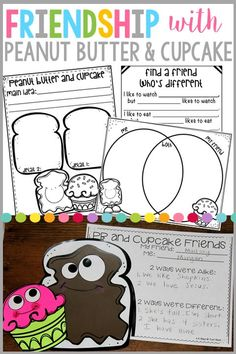 Teach your students all about friendship with the fabulous book Peanut Butter and Cupcake. This packet contains a craft and writing response that will encourage your students to reflect on how it's ok to have similarities and differences with their friends!