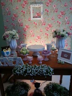 A mesa do bolo na Oficina da Lolli