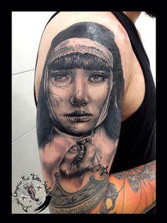 Nun by dimitris grapsias koi tattoo