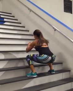 """Home Workouts For You on Instagram: """"Outdoor stairs workout by @alexia_clark """""""