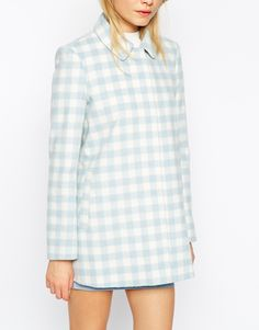 Image 3 of ASOS Dolly Coat in Summer Check