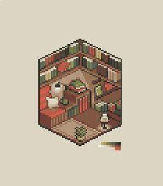 Pix Art, Art Images, Game Character Design, Game Design, Arte 8 Bits, Birthday Icon, Cool Pixel Art, Minecraft Wallpaper, Drawing Interior