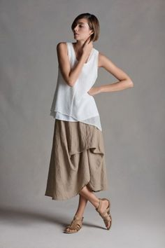 eileen fisher - love the tiered skirt