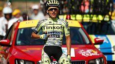 Fingerzeig: Rafal Majka gewann die elfte Tour-Etappe und dachte dabei auch an Teamkamerad Ivan Basso. (Quelle: Reuters)