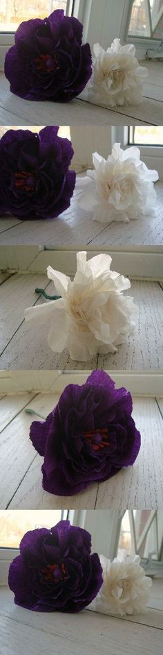 The start of what will be a beautiful paper flower bouquet!