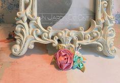 broche bouquet rosa y nomeolvides