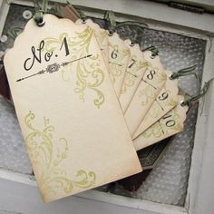 Wedding Escort Card Vintage Inspired Tag by SunshineandRavioli