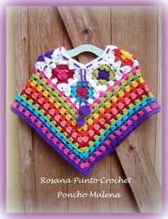 60 Ideas Crochet Patrones Ponchos Bebe For 2019 Crochet Baby Cardigan, Crochet Baby Clothes, Baby Blanket Crochet, Crochet Shawl, Knit Crochet, Crochet Girls, Crochet For Kids, Crochet Handbags, Crochet Projects