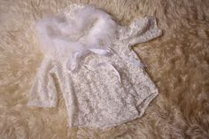 White lace fur trimmed hoodie romper,for baby girl newborn to sitter month sizes,Christmas photography prop,Handmade in the UK by me. Newborn Baby Photography, Photography Props, Christmas Photography, Baby Girl Newborn, Fur Trim, Photo Props, White Lace, Rompers, Hoodies