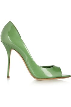 Patent-leather open-toe pumps | Casadei | 55% off | THE OUTNET