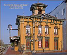 Restored train depot in Gettysburg