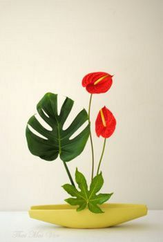 Ikebana by Thai Thomas Mai Van. Based in Le Harve, France. Ikebana Arrangements, Creative Flower Arrangements, Ikebana Flower Arrangement, Beautiful Flower Arrangements, Flower Vases, Floral Arrangements, Beautiful Flowers, Cactus Flower, Deco Floral