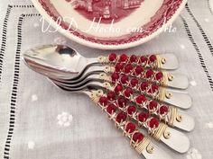 Cucharas decoradas con cristales