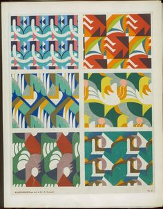 Textile design from 192?. Artists: Verneuil, M. P. 1869; Verneuil, Ad; Saudé, Jean