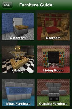 Minecraft Furniture More Minecraft Furniture Mehr Minecraft Hack, Easy Minecraft Houses, Skins Minecraft, Minecraft Room, Amazing Minecraft, Minecraft Decorations, Minecraft House Designs, Minecraft Tutorial, Minecraft Blueprints