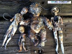 Post Apocalyptic props - The perfect nuclear family? Made by Mark Cordory Creations www.markcordory.com