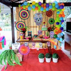 Mexican Party Decorations, Party Themes, Festival Diy, Mexican Birthday Parties, Party World, Seasonal Decor, Holiday Decor, Trunk Or Treat, Ideas Para Fiestas