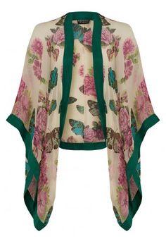 Pretty Eccentric Kimono in butterfly silk chiffon - Pretty Eccentric from Pretty Eccentric UK