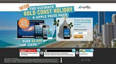 Win The Ultimate Gold Coast Holiday & Apple Prize Pack Win A Holiday, Island Holidays, Worldwide Travel, Gold Coast, Travel Pictures, Giveaway, Competition, Packing, Australia