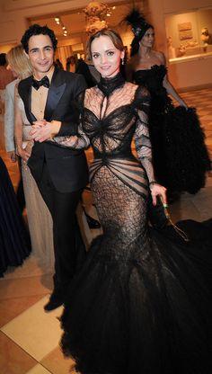 Christina Ricci & Zac Posen and Annual Ball of Metropolitan Museum of Art. Pic taken by Mimi Ritzen Crawford. Vogue