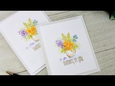 ▶ Wplus9 Design Clips: Fresh Cut Watercolor - YouTube - Use your stamps and dye ink with a paint brush to get this look. Excellent video.