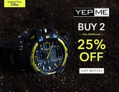 Buy 2 Get Additional 25% Off On Men's Watches Buy Now To Grab Deal @ http://goosedeals.com/home/details/yepme/135796.html