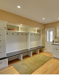 Mudroom with combined laundry room