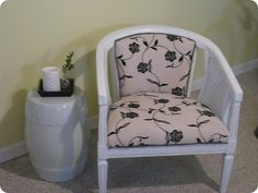 I have three of these in terrible shape and color ...excited to get crafty with my barrel chairs!!