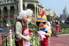 Wordless Wednesday – Character Movie Stars - Pinocchio and Geppetto greeting Sophie!