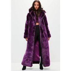 Missguided Londunn + Missguided Purple Faux Fur Coat