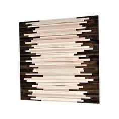 Wood Wall Art - Wood Art Sculpture Reclaimed Wood Art Wall Installation - 36x36