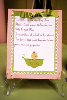 Sweet Pea Baby Shower Party Ideas
