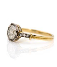 Salt & Pepper Diamond Ring - Audry Rose