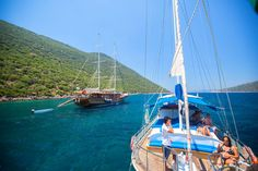 Sailing off the coast of Kaş, you'll see just how popular the blue voyage is.