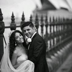 Bev and Shaun sooo in love @bee_tee wearing #customheadpiece  and #teardropearrings #tessarellahouse #sydneywedding #sydney #sydneyharbourbridge gown @corston_couture #crowns #realbride #love #couture by tessarellahouse http://ift.tt/1NRMbNv