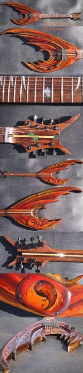 dragon-wing custom guitar