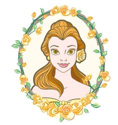 Belle with flowers