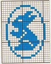 ŻYCIE SZYDEŁKIEM WYDZIERGANE: Wielkanoc Knitting Charts, Baby Knitting, Crochet Placemats, Crochet Ornaments, Easter Crochet, Cross Stitch Baby, Chrochet, Filet Crochet, Pixel Art